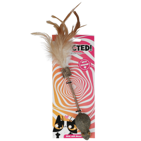 Addicted! madnip Stick with mouse and feathers
