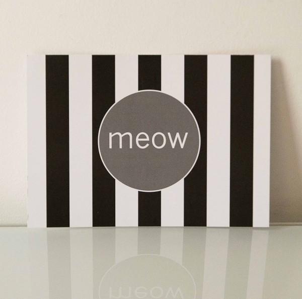 Postkarte meow