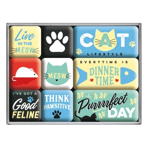 Magnet-Set (9teilig) Cat Lifestyle