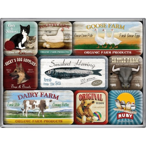 Magnet-Set (9teilig) Animal Club