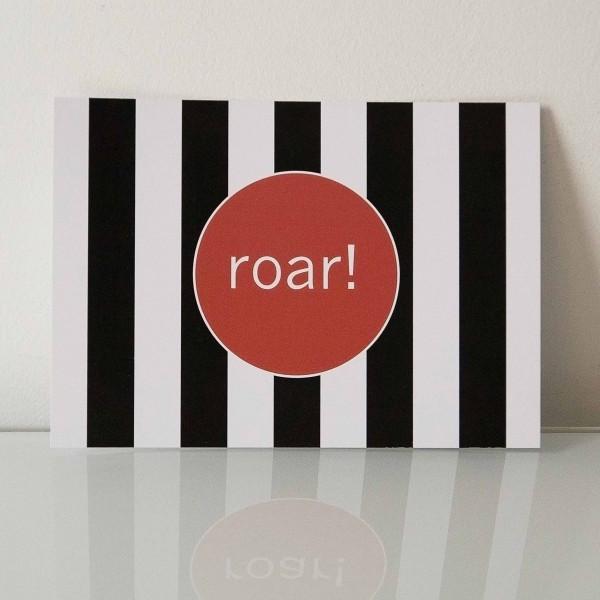 Postkarte roar!