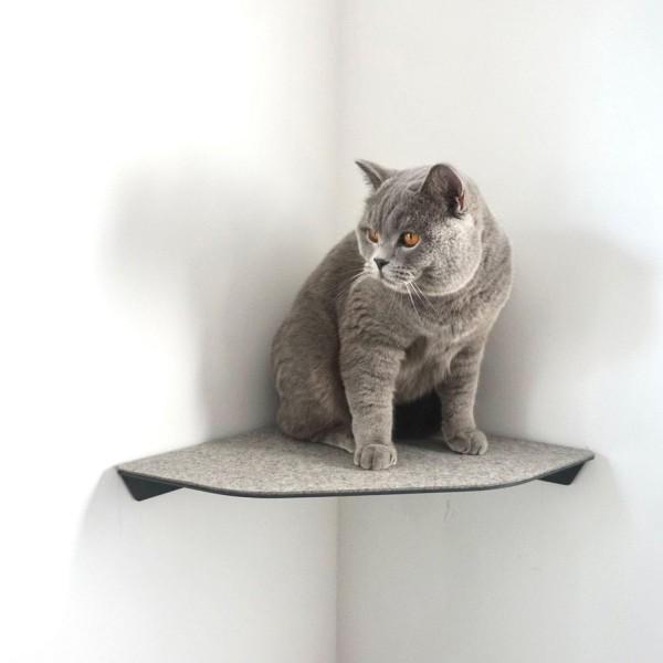 Corner - Katzen-Wandliege für die Ecke - anthrazit