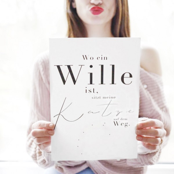 """Poster """"Wo ein Wille ist"""""""