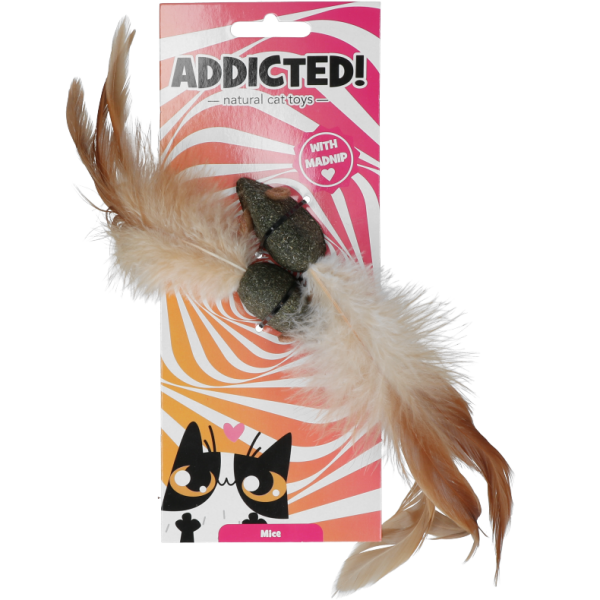 Addicted! madnip Mice with Feathers