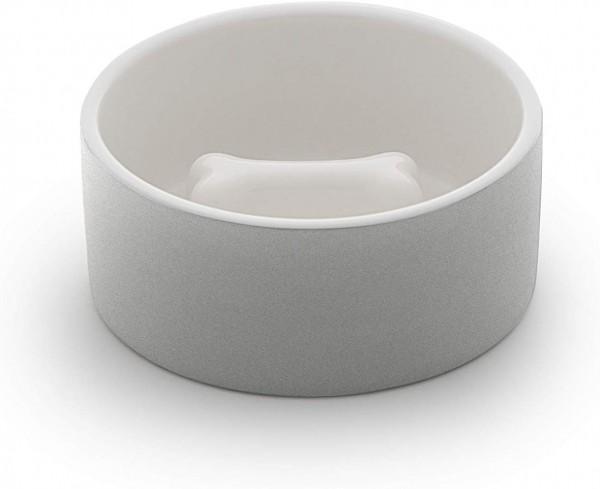 Cooling Ceramics Slow Feeding Dog Bowl Knochen Grau M