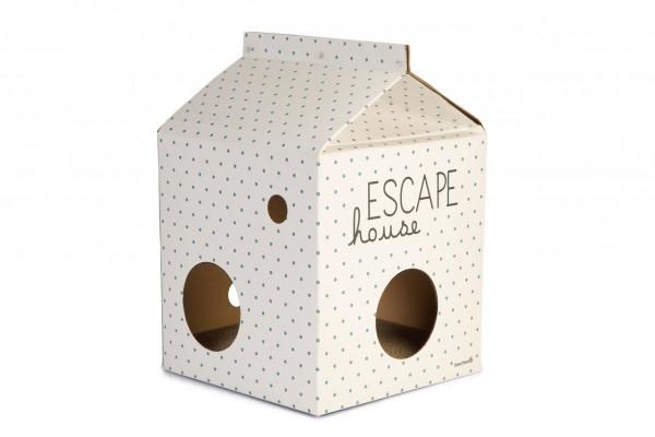 Kitten Kartonspielzeug Katzenhaus Escape