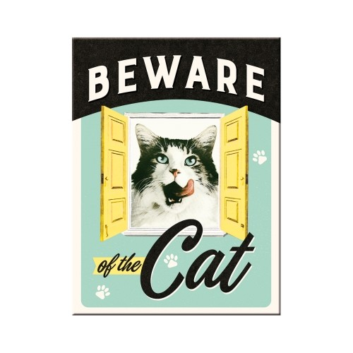 Magnet: Beware of the cat