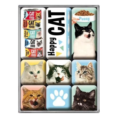 Magnet-Set (9teilig) Happy Cats