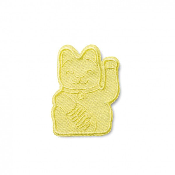Maneki Neko Patch / Gelb / Flicken