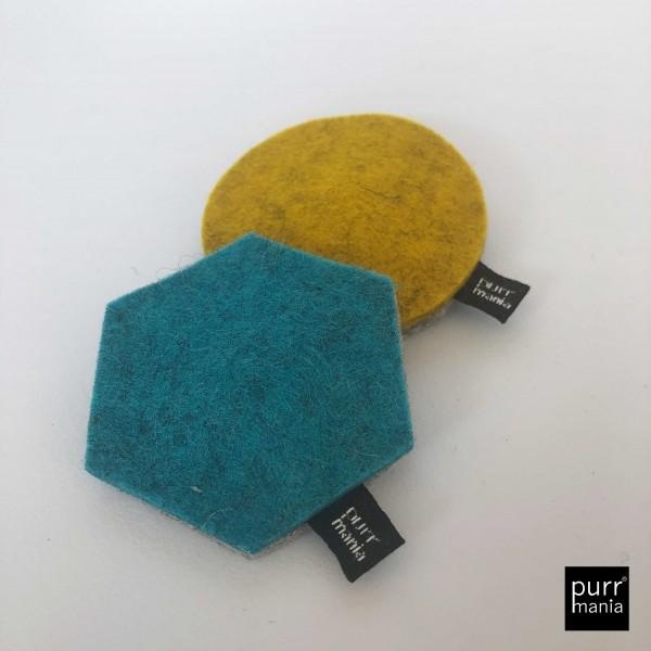 Set geometric: wooly hexagon (Catnip) & wooly dot (Baldrian)