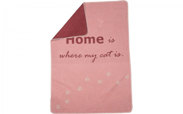 "Haustierdecke ""home is where my cat is"""