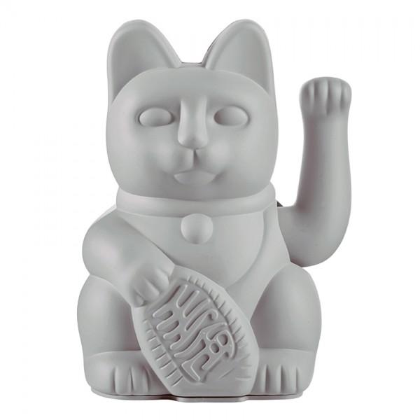 Lucky Cat - Winkekatze - grau
