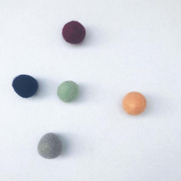 5er Pack Filzball felty farbsortiert