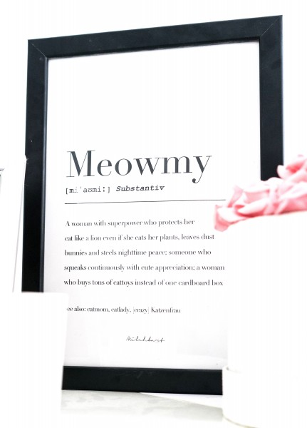 "Poster ""Meowmy"""