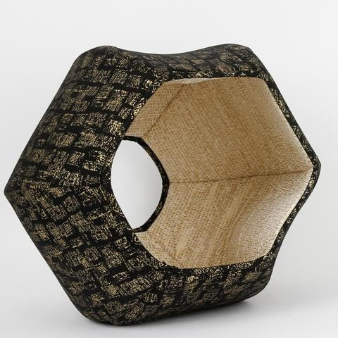 The Cat Ball black with gold bricks