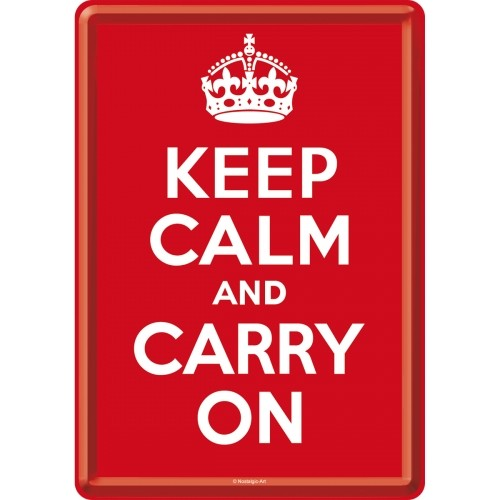 Blechpostkarte: Keep calm and carry on