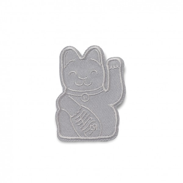 Maneki Neko Patch / Grau / Flicken