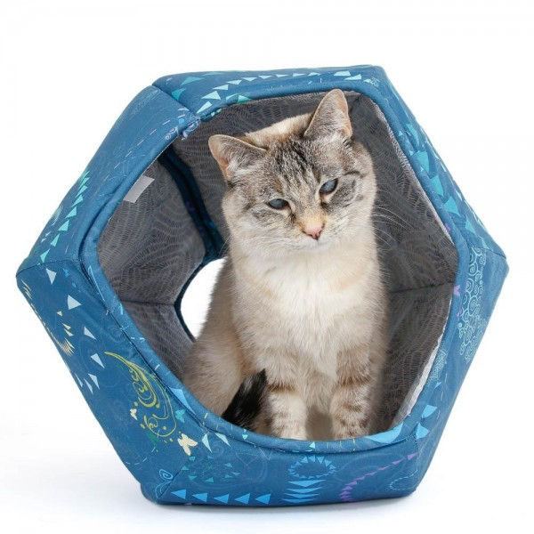 The Cat Ball blue butterfly geometric