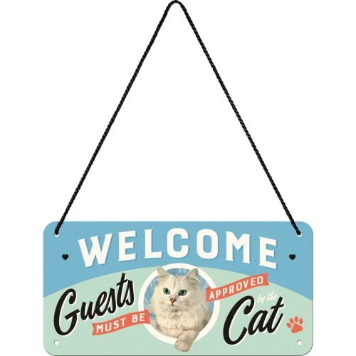 Hängeschild Welcome Guests Cat