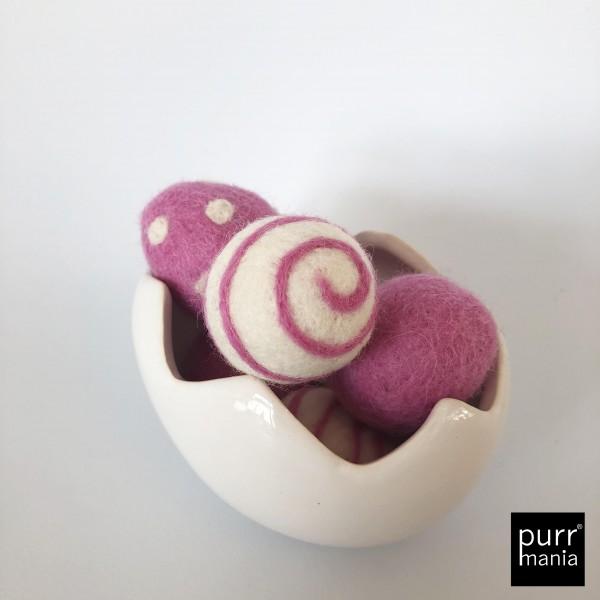 felt eggs pink