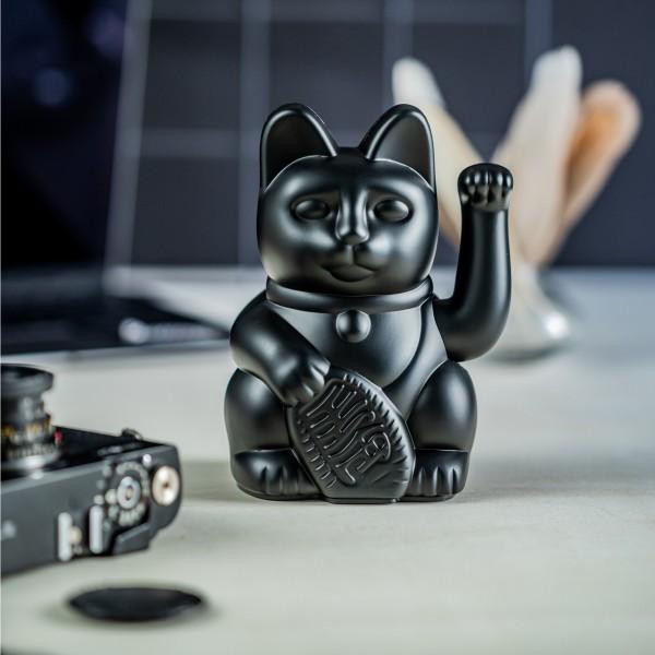 Lucky Cat - Winkekatze - schwarz